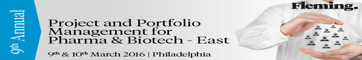 9th Project and Portfolio Management Conference for Pharma and Biotech - East-SciDoc Publishers