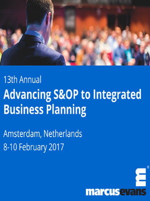 13th Annual Advancing S&OP to Integrated Business Planning-SciDoc-Publishers